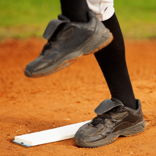 Franklin MLB Spike Down Pitcher's Rubber Perspective: right