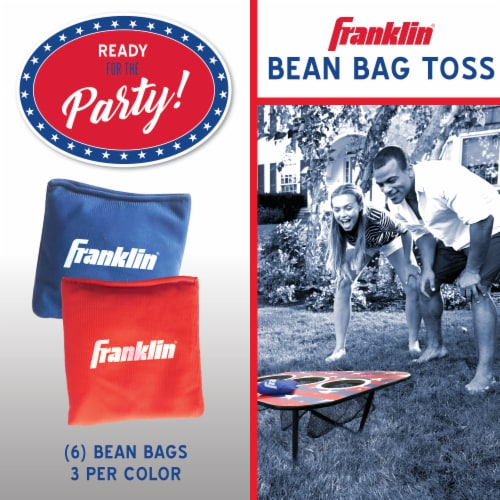 Franklin USA 3-Hole Bean Bag Toss Yard Game – Red/White/Blue Perspective: right