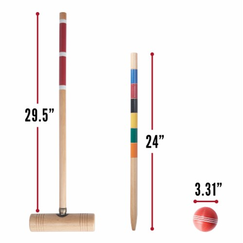 Franklin Professional Croquet Set Perspective: right