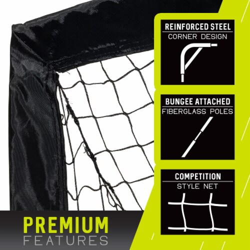 Franklin Blackhawk Soccer Goal - Black/Yellow Perspective: right