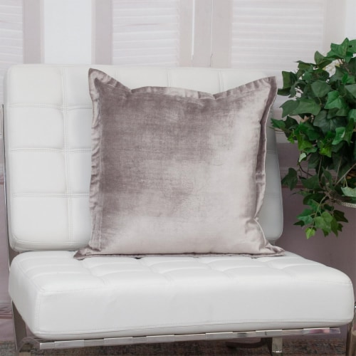 Parkland Collection Agneta Transitional Taupe Throw Pillow Perspective: right