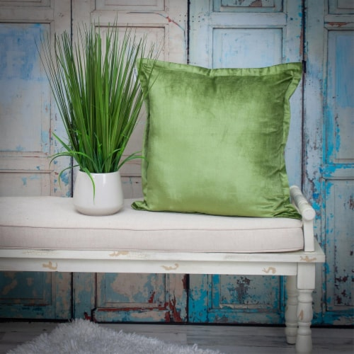 Parkland Collection Agneta Transitional Olive Throw Pillow Perspective: right