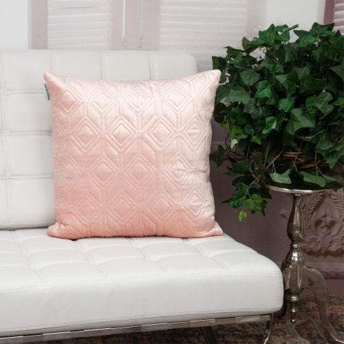 Parkland Collection Aleta Transitional Pink Throw Pillow Perspective: right