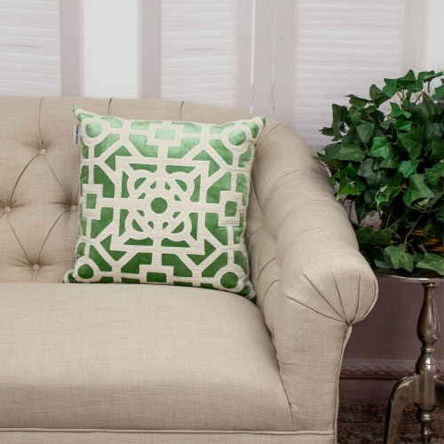 Parkland Collection Hazel Transitional Green/Sage Throw Pillow Perspective: right