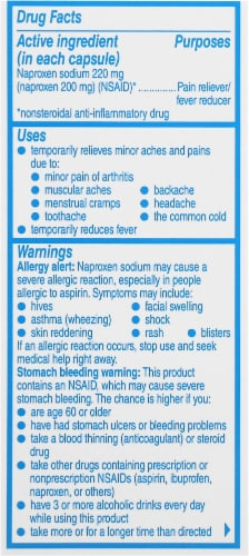 Aleve® Naproxen Sodium Pain Reliever/Fever Reducer Liquid Gels Capsules 220mg Perspective: right