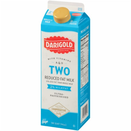 Darigold Two Ultra-Pasteurized 2% Reduced Fat Milk Perspective: right