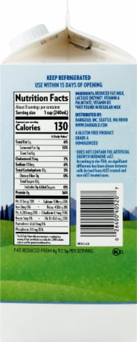 Darigold Reduced Fat Lactose Free Ultra-Pasteurized 2% Milk Perspective: right