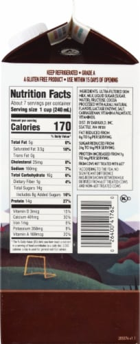 Darigold Fit Chocolate Reduced Fat Ultra-Filtered Milk Perspective: right