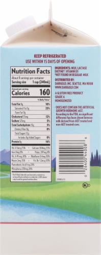 Darigold Lactose Free Ultra-Pasteurized Whole Milk Perspective: right