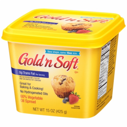 Gold 'n Soft Vegetable Oil Spread Perspective: right