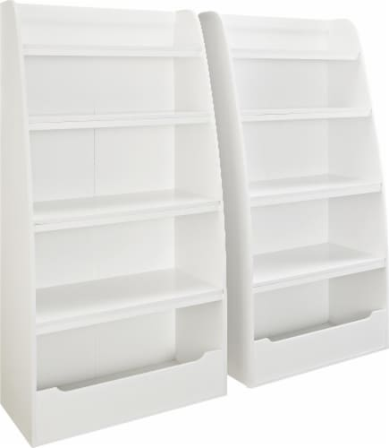 Annabelle Kids' 4 Shelf Bookcase, White Perspective: right