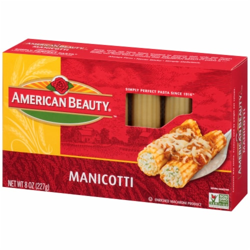 American Beauty Manicotti Pasta Perspective: right