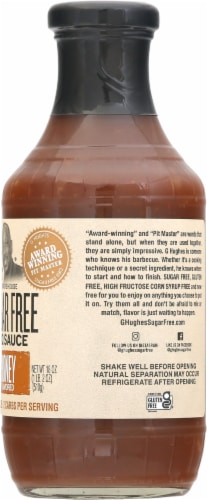 G Hughes Sugar Free Honey Smokehouse BBQ Sauce Perspective: right