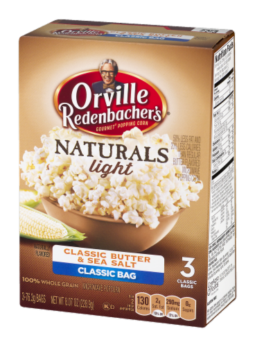 Orville Redenbacher's Naturals Light Classic Butter & Sea Salt Microwave Popcorn Perspective: right