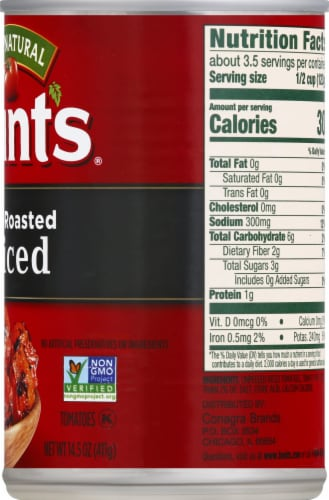 Hunt's Fire Roasted Diced Tomatoes Perspective: right