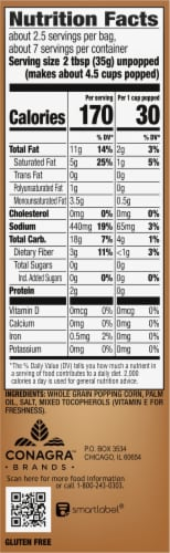 Orville Redenbacher's Naturals Simply Salted Popcorn Bags 3 Coiunt Perspective: right