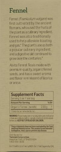 Alvita Organic Fennel Herbal Tea Perspective: right
