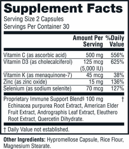 Twinlab® Daily Immune Support Capsules Perspective: right