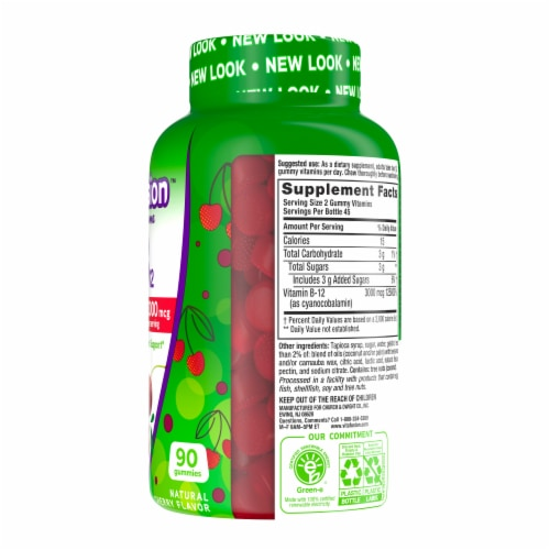 Vitafusion Extra Strength B12 Gummies Perspective: right