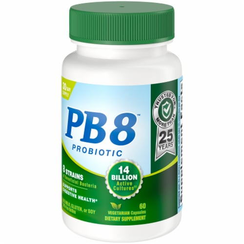 Nutrition Now PB 8 Probiotic Acidophilus for Life Capsules 60 Count Perspective: right