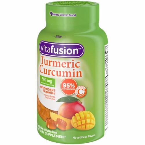 Vitafusion Turmeric Curcumin Natural Mango Cream Flavor Gummies Perspective: right