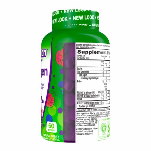 Vitafusion Natural Berry Pomegranate Flavor Collagen Gummy Vitamins Perspective: right