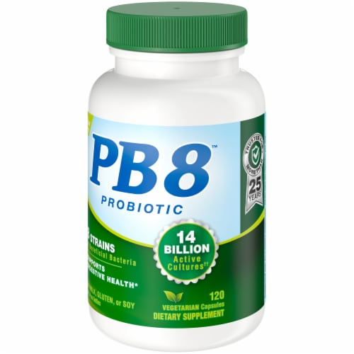 Nutrition Now PB 8 Probiotic Acidophilus for Life Capsules 120 Count Perspective: right