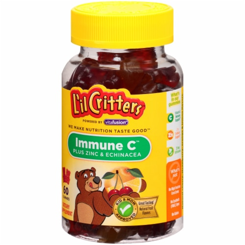 L'il Critters Immune C Plus Zinc & Echinacea Assorted Fruit Gummies 60 Count Perspective: right