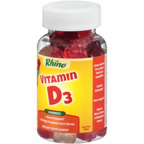 Rhino Gummy Vitamin D3 Gummies 60 Count Perspective: right