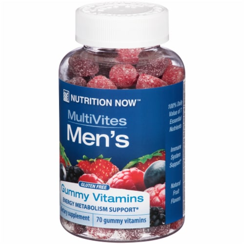 Nutrition Now MultiVites Men's Gummies Perspective: right