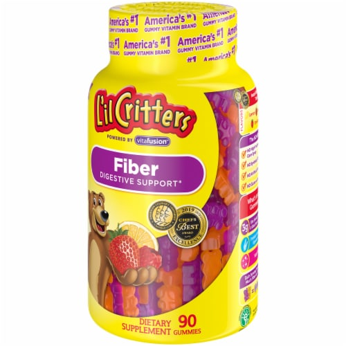 L'il Critters Fiber Dietary Supplement Gummies 90 Count Perspective: right