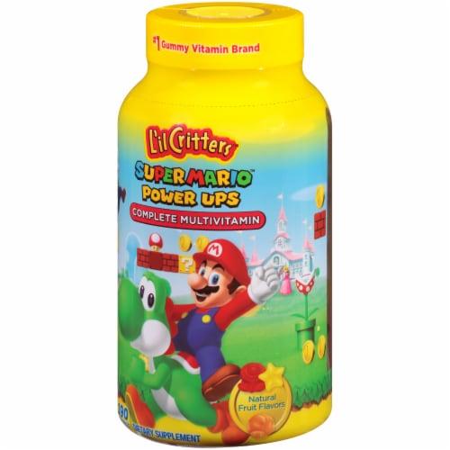 L'il Critter Super Mario Power Ups Fruit Flavored Complete Multivitamin Gummies Perspective: right