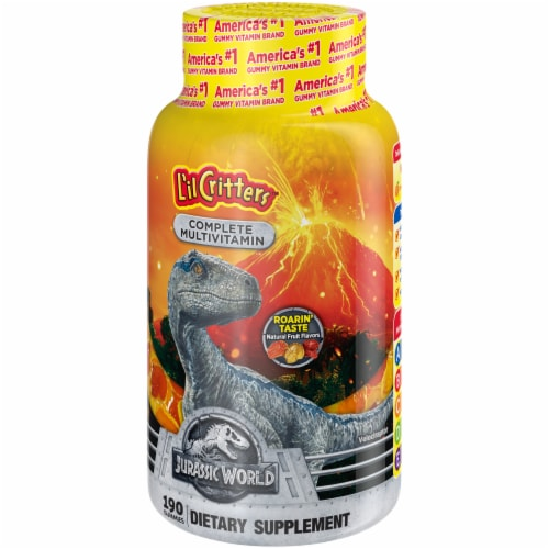 L'il Critters Jurassic World Complete Multivitamin Gummies Perspective: right