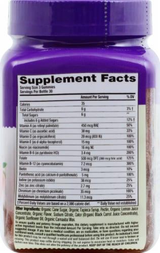 Vitafusion Organic Men's Mult vitamin Gummies 90 Count Perspective: right