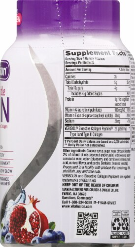 Vitafusion Irrestible Skin Gummies 100 Count Perspective: right