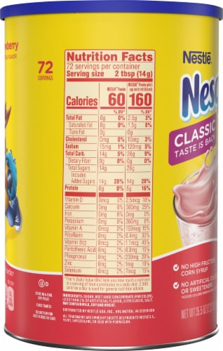 Nesquik Strawberry Powder Drink Mix Perspective: right