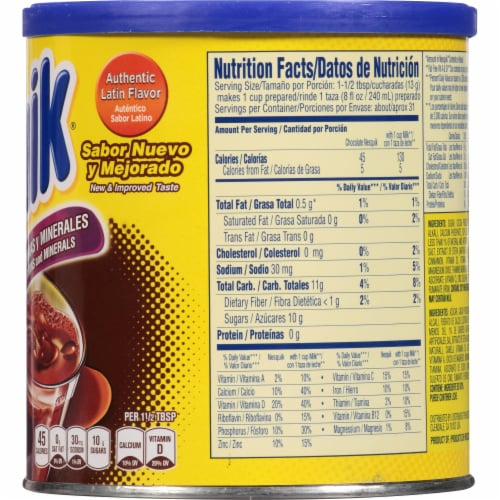 Nestle Nesquik Chocolate Flavor Drink Mix Perspective: right