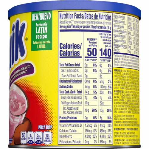 Nesquik Strawberry Flavor Drink Mix Perspective: right