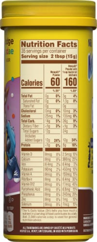 Nesquik® Hot Fudge Sundae Powdered Drink Mix Perspective: right