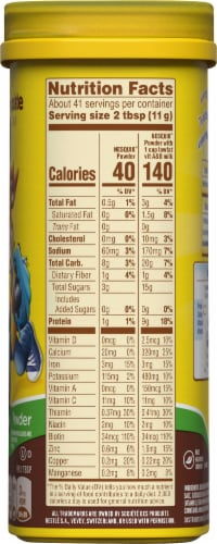 Nesquik No Sugar Added Chocolate Flavored Powder Mix Perspective: right