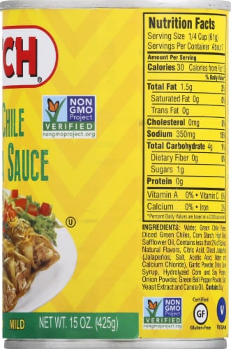Hatch Mild Green Chile Enchilada Sauce Perspective: right