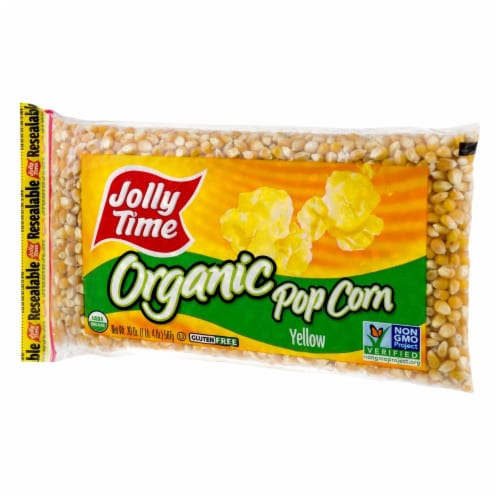Jolly Time Yellow Organic Popcorn Kernels Perspective: right
