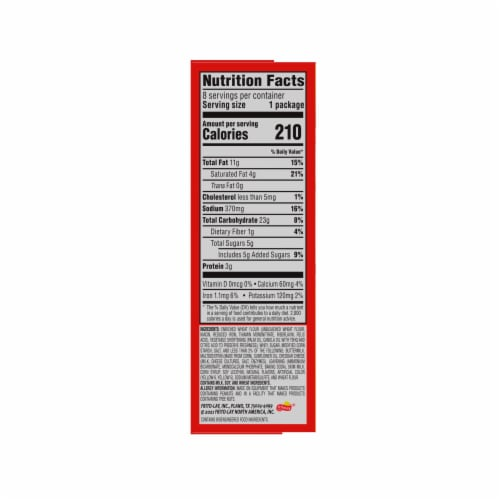 Munchies Snack Crackers Cheddar Cheese Sandwich Perspective: right