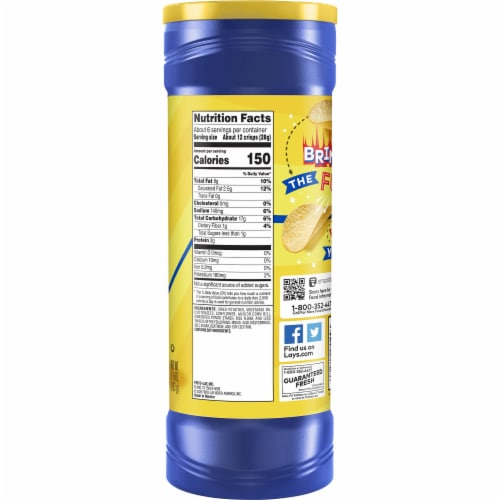 Lay's® Stax® Potato Crisps Original Flavor Chips Container Perspective: right