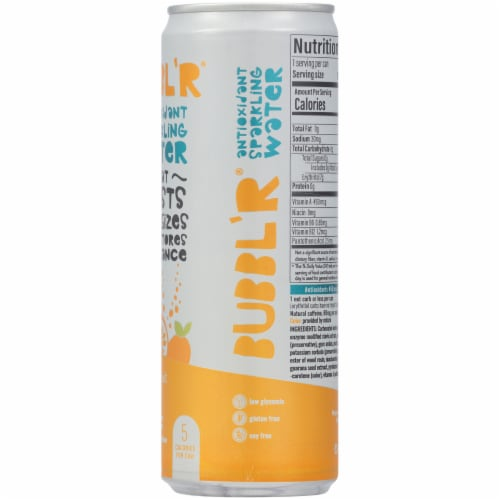 Bubbl'r Passion Fruit Wond'r Antioxidant Sparkling Water Perspective: right