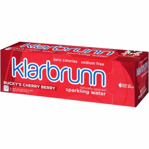 Klarbrunn Bucky's Cherry Berry Sparkling Water Perspective: right