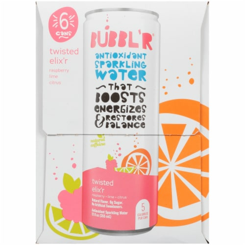Bubbl'r Twisted Elix'r Antioxidant Sparkling Water Perspective: right