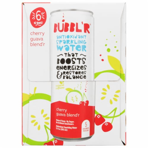 Bubbl'r Cherry Guava Blend'r Antioxidant Sparkling Water Perspective: right