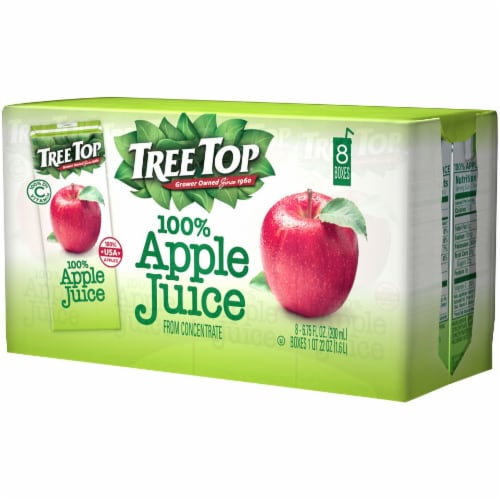 Tree Top 100% Apple Juice Boxes Perspective: right