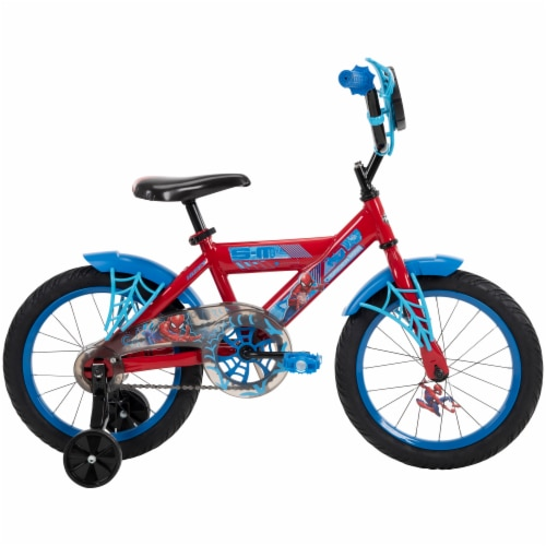 Huffy Spider-Man Bicycle - Blue/Red Perspective: right